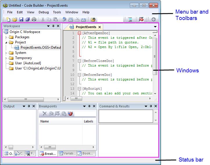 Help Online Code Builder Code Builder Interface