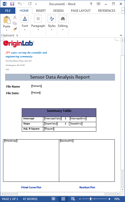 word templates for report
