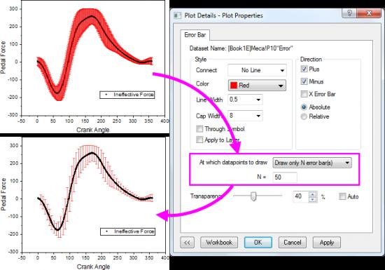 Help Online Origin Help Adding Error Bars To Your Graph