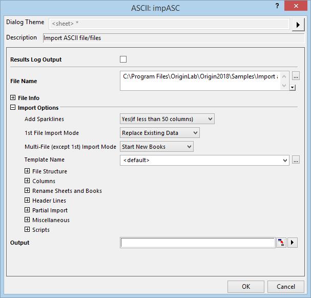 Help Online Origin Help Customizing the ASCII Import Options – Semicolon Worksheet