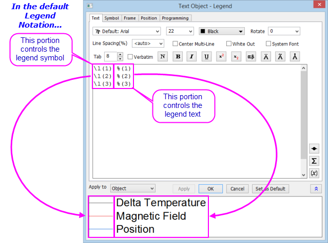 Excel Adding Text To Legend - arcgis desktop labeling