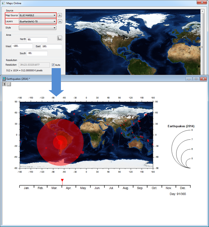 Maps Online File Exchange OriginLab – Earth Map Online
