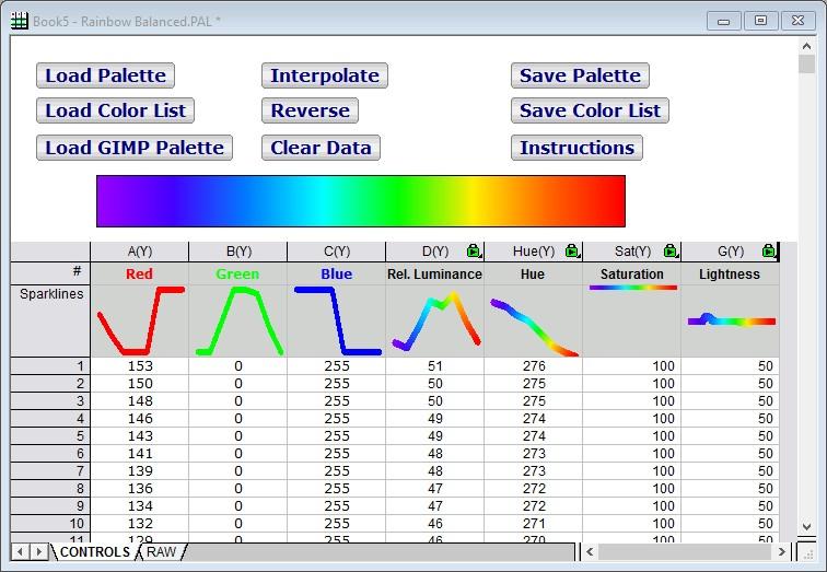 Color Editor File Exchange Originlab