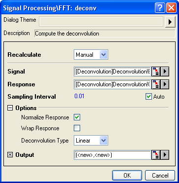 Deconvolution Dialog