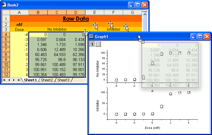 how to drop excel into a pdf