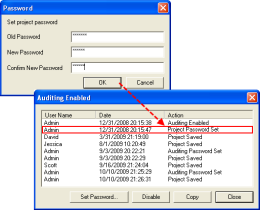 Password Protection and Audit Log